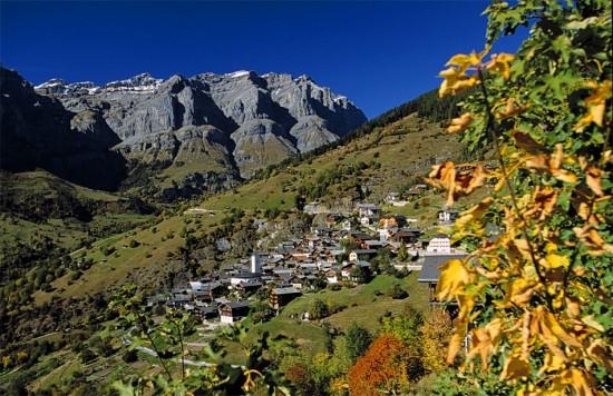 Dorf Albinen bei Leukerbad, Wallis
